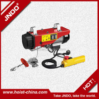 mini electric wire hoist with monorail trolley