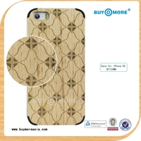 Innovative color change back cover for case Apple iPhone 5'' wood case--BY124