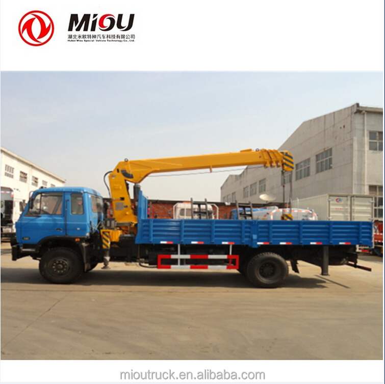 DongFeng 4x2 Small Crane 3 tons truck mounted crane for sale