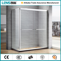 LENS whole glass door shower screen for bathroom remodel