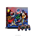 Cartoon joy skin sticker for ps4 with two controller skin