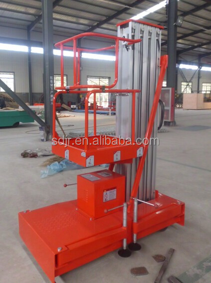 Ship to Qatar Trailer type one man hydraulic ladder lift