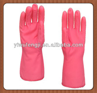 winter warm flower lengthen cuff latex household cleaning glove