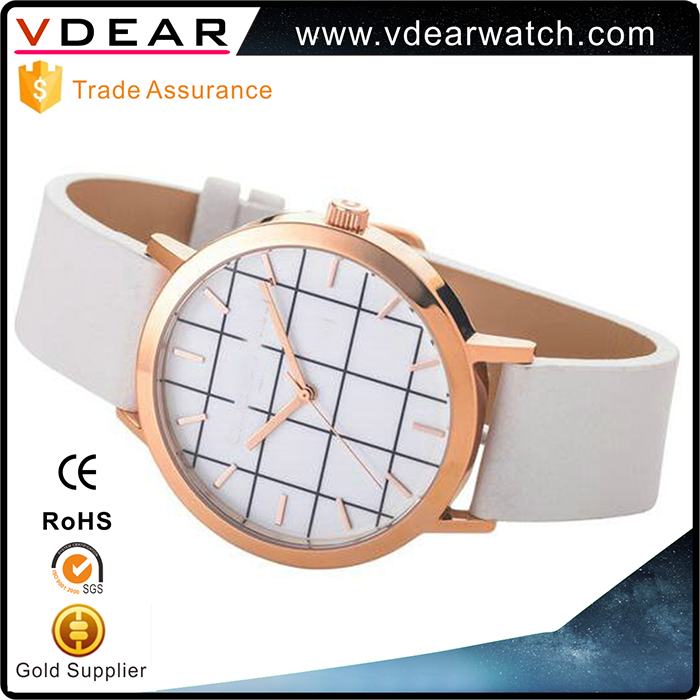 Most popular simple design design leather watch japan movt quartz watch stainless steel bezel