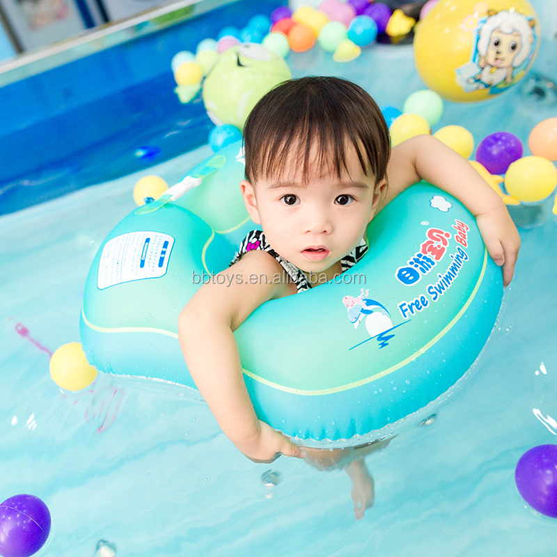 <strong>U</strong> shaped waist ring Safe and leakproof child swimming ring Anti rollover lovely swimming ring custom swim float