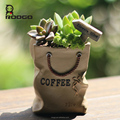 Roogo magical resin imitation shopping bag garden succulents plants flowers pot