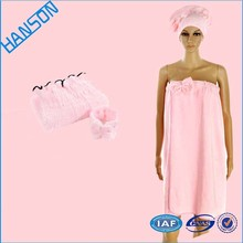 New Design Terry Cloth Thickened Shower Cap compressed bath towel