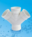PVC Pipe Fitting Wye / PVC Y Tee Fittings for Drainage Water