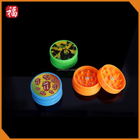 Yiwu Factory Jamaican 40mm bob marley plastic grinder for tobacco