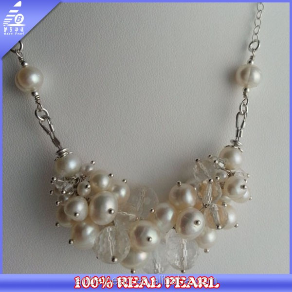 6-9mm Beaded Freshwater Pearl Wholesale 100% Real Peal Fashion Necklace For Wedding Pearl Jewelry
