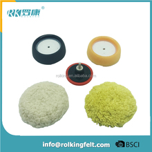 car polishing kits foam and wool polishing grip pad set