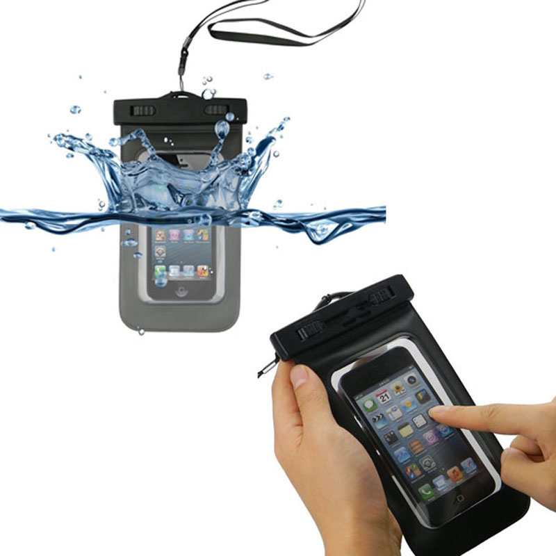 IPX8 Universal Lanyard PVC Mobile Phone Waterproof Case for lg nexus 5