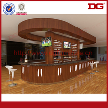 High quality wood shop counter commercial wooden bar counter