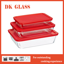 Glass Baking Tray for Bakery/Microwave Pyrex Glass Baking Dishes/Rectangular Glass Baking Plate