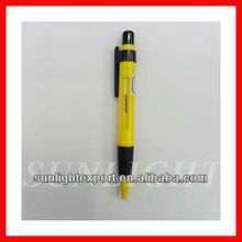 Plastic Slogan promotion click ball pen