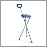 three-legged medical walking stick with chair