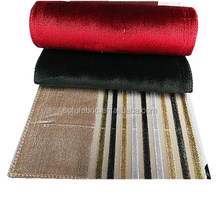 100% cotton stripe velvet pile fabric for sofa
