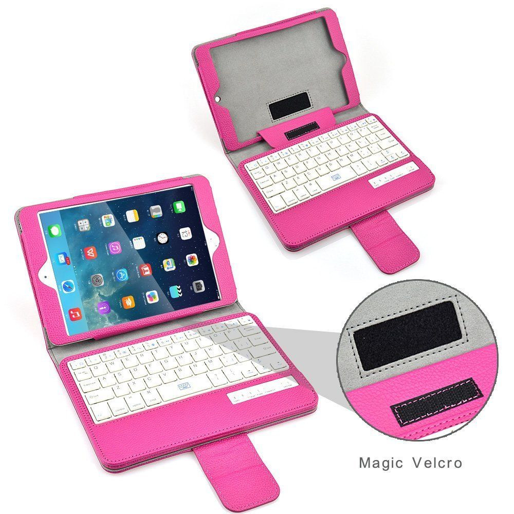 Bluetooth Keyboard Case Auto Sleep Wake Leather Tablet Covers for iPad Mini 1/2/3