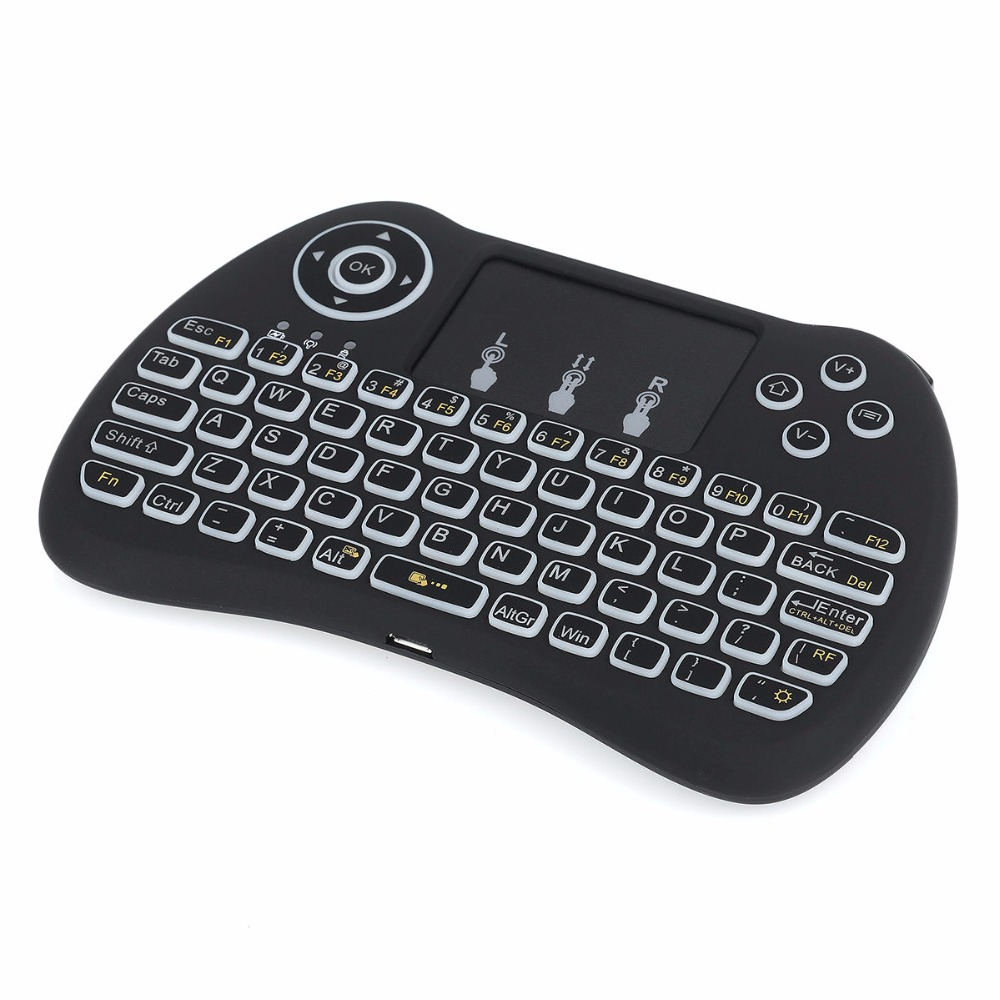 Hot selling Backlight Mini Keyboard with touchpad H9 Backlit Wireless Keyboard for smart tv
