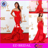 Amazing rs0206 Latest Design Evening Strapless Ruffled Bottom Court Train Red Nina Red Carpet Dress
