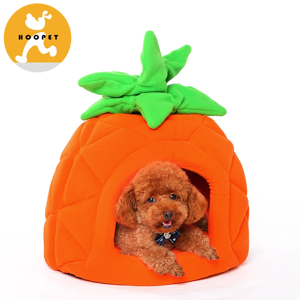 Custom Wholesale Luxury Plush Pineapple Removeable Pet Bed Cushion Dog Bed House