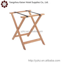 high quality hotel necessaries soild large foldable custom wooden luggage rack