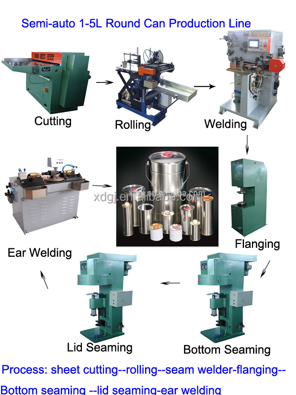 350ml steel drum making machine/production line