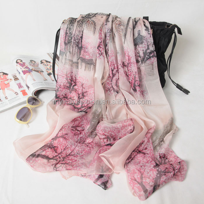 fashion long silk scarf wholesale china
