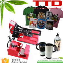 2 in 1 combo cheapest prices sublimation heat press machine for mugs tshirts printer