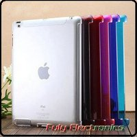 Ultra thin crystal clear hard back cover case for ipad 2 3 4