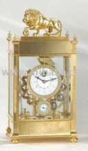 Gilded Copper Clock with Rolling Ball Mechanism (JG9001A)