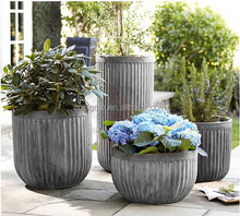 Cheap fiberglass planters wholesale european flower pot for sale