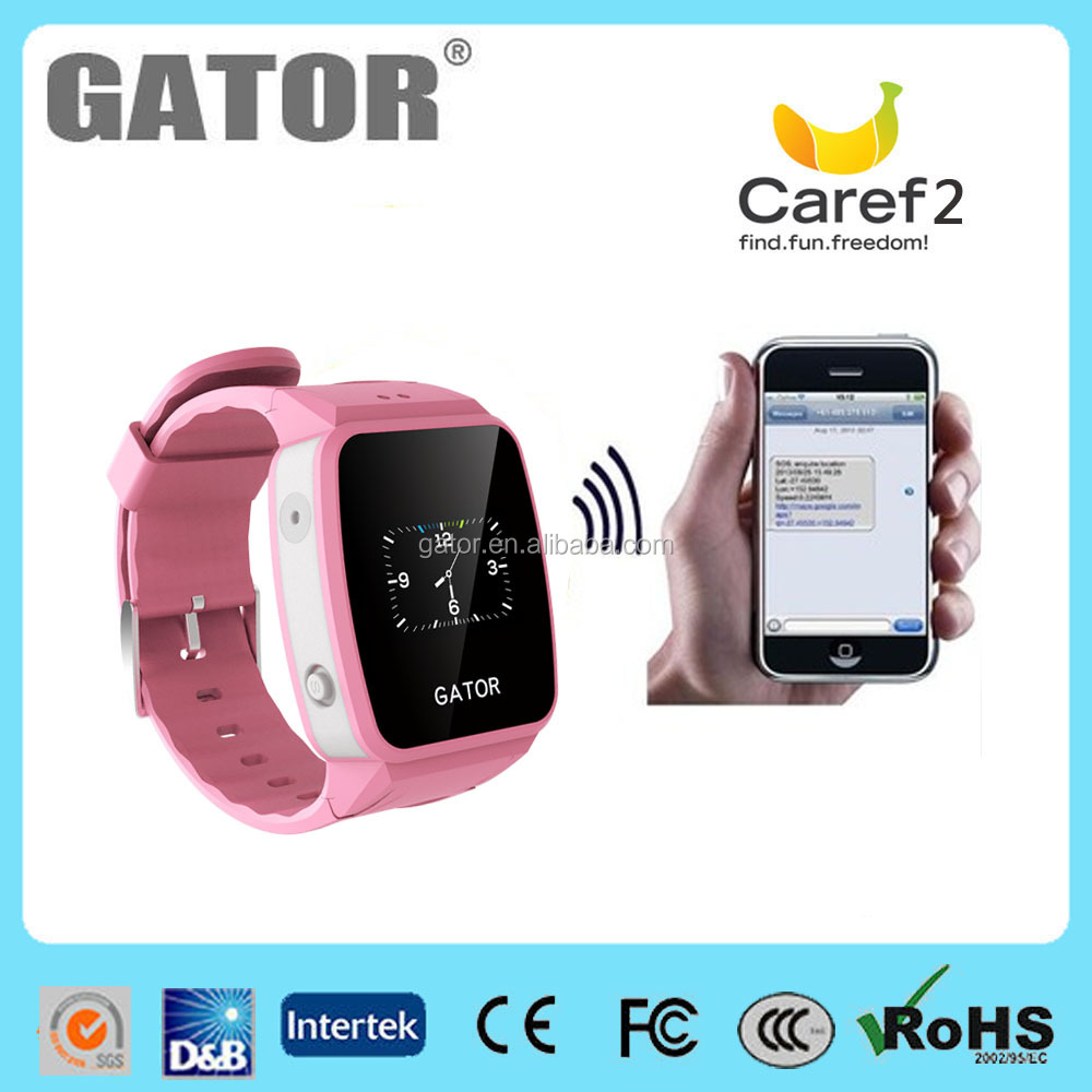 2017 gator child gps tracker / gps tracking device kids gps watch phone wrist watch-look for agents