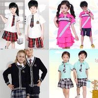 2015 hot saleCustom high quality model of primary middle school uniform made by comfortable fabric