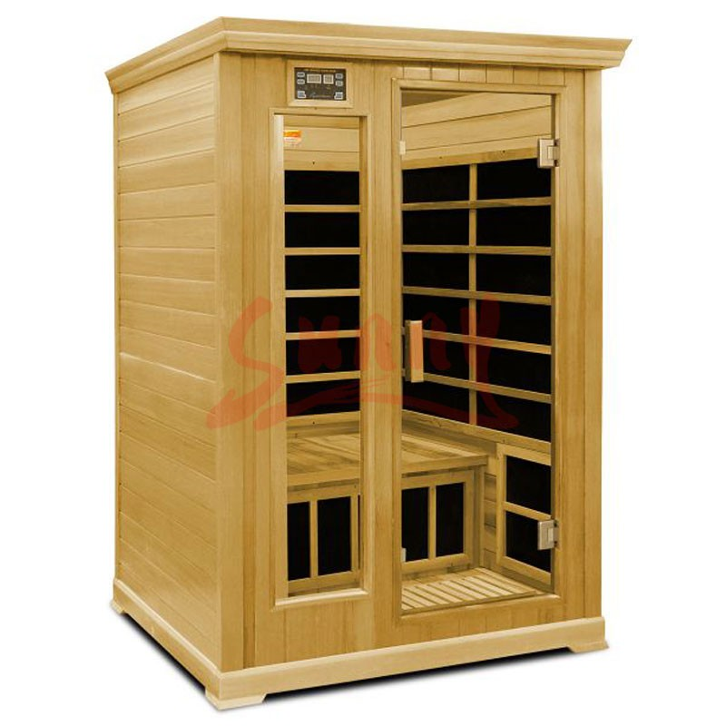 Two person portable sauna room dry steam wooden sauna room SS-ISL1112
