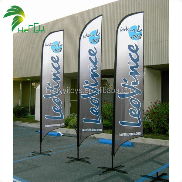 Oxford Cloth Factory Selling Custom Made Advertising Flags for Sale / Beach Flags