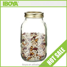 1000ml unique clear cookie jars with screw cap/storage jars