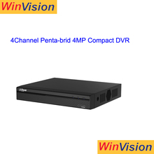 Dahua Lite Series 1U XVR 4 Channel Penta-brid 4MP Compact usb DVR Support HDCVI/AHD/TVI/CVBS/IP video inputs Realtime Dahua DVR