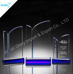Top quality crystal awards factory custom trophy design