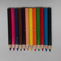 Short Color pencils with treated linden wood and high level lead