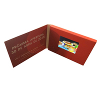 As promotional gift business video card with lcs screen customized