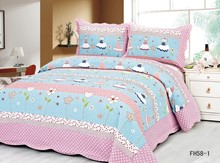 65g microfiber bed cover baby microfiber quilting polyester bedspread