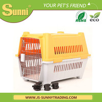 Plastic with wheels cheap dog kennels