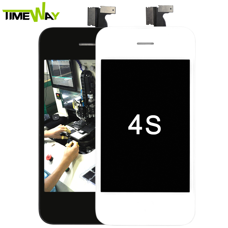 Full set Assembly, with Home Button, Front Camara and Bracket, for iphone 4s lcd screen