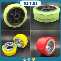 Factory Supplier OEM Service Shore 90A 92A 95A 72D 75D PU and wheel hub strong adhesion solid urethane covered wheels