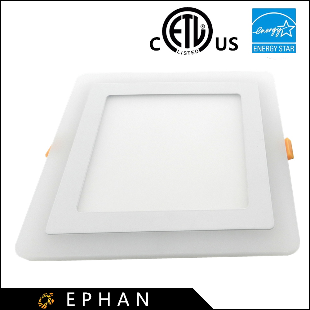 Ephan Decorative R/G/B + W/WW Color Led Ceiling Panel Light Square