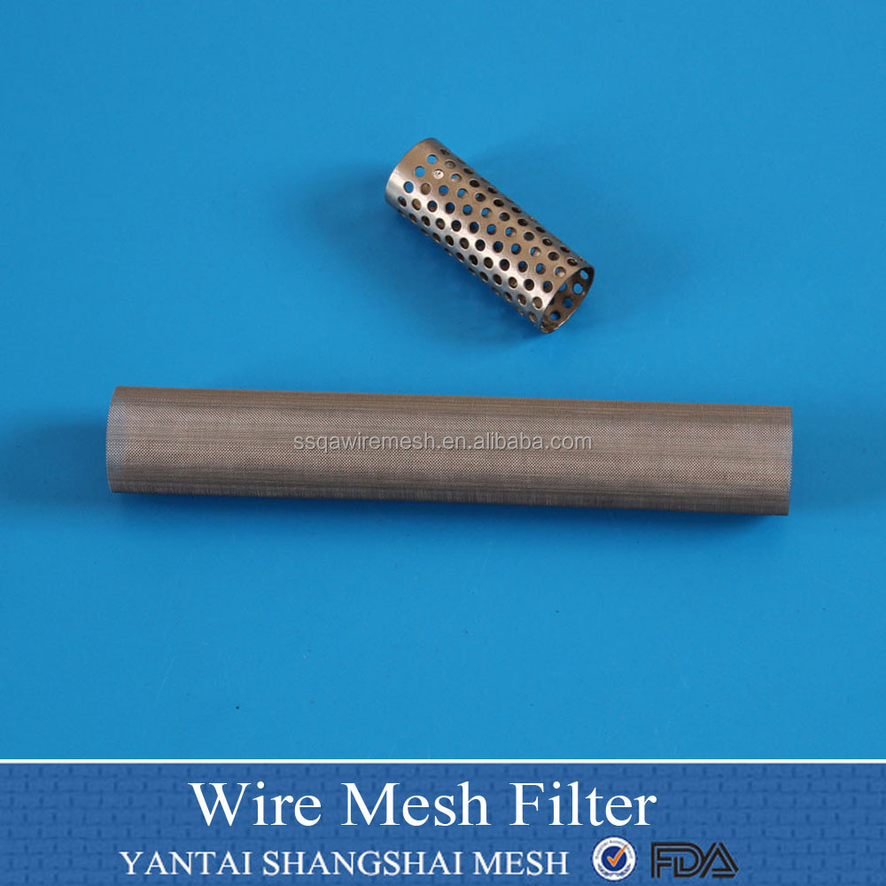"6"" 12"" 18"" 304 Stainless steel perforated metal tube for BBQ pellets"