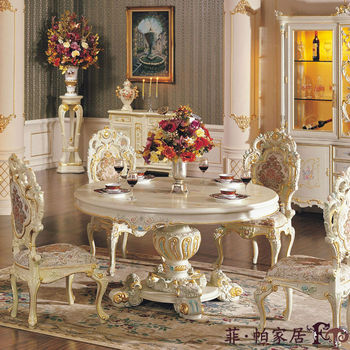 italian style furnitures - solid wood hand carved dining room