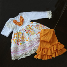 New arrival plus size wholesale children clothing ruffle kids clohes wholesale newest winter baby clothes