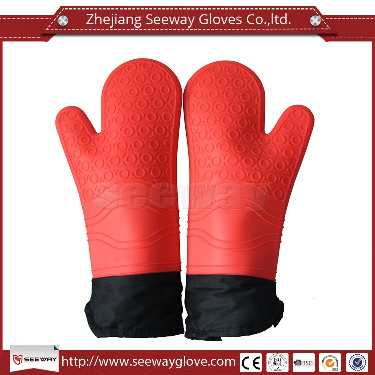 Seeway Silicone Waterproof Heat Resistant Gloves for Cooking